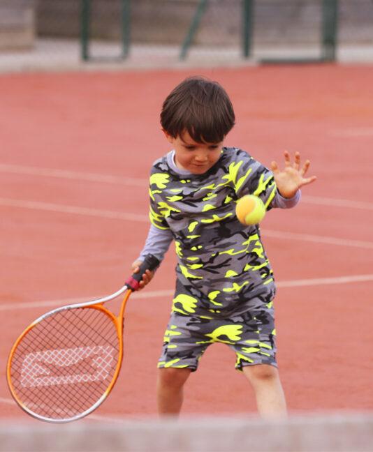 tennis long sleeve top zoe alexander came neon