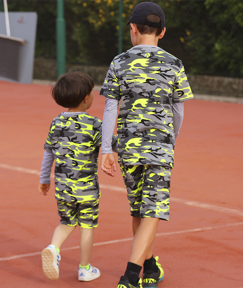 boys long sleeve tennis top camo neon zoe alexander