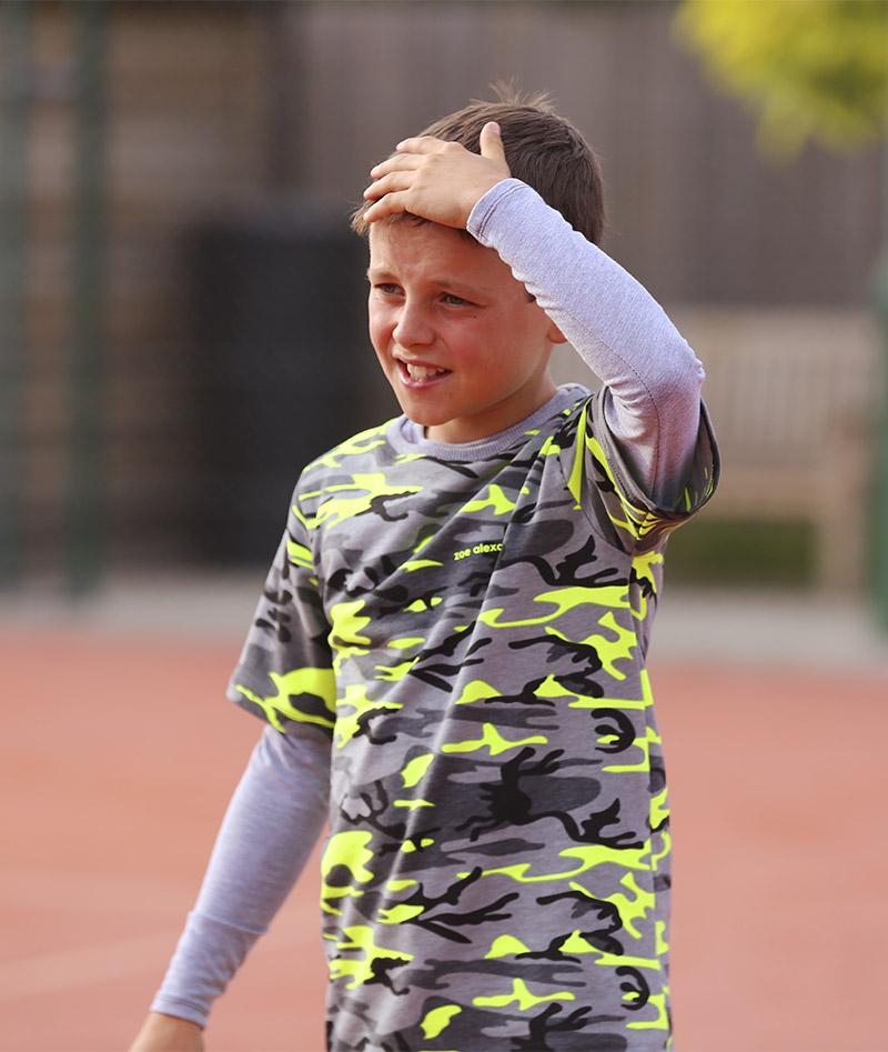 long sleeve camo tennis top zoe alexander uk