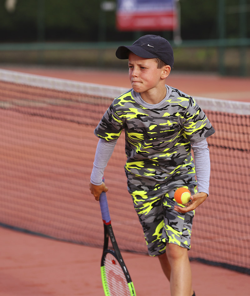 camo shorts and long sleeve tennis top zoe alexander uk
