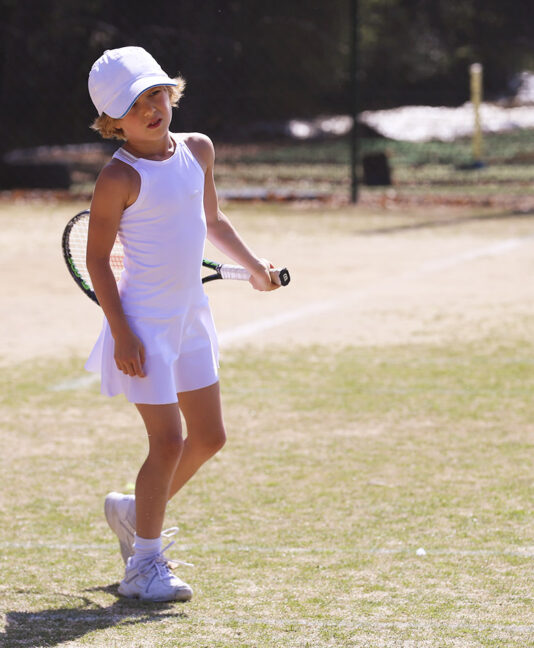 white tennis dress racerback zoe alexander