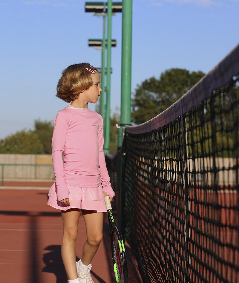 top girl tennis training pink white blue Zoe Alexander uk za
