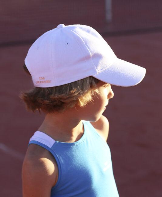 white tennis caps kids boys girls zoe alexander uk