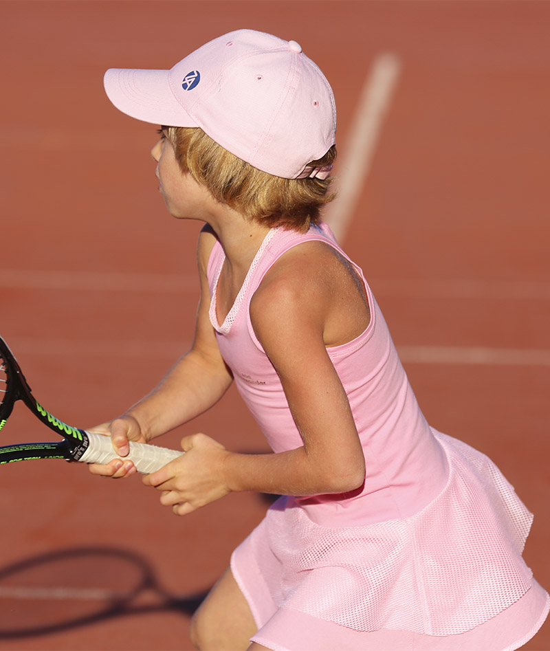 pink kids tennis caps junior headwear zoe alexander