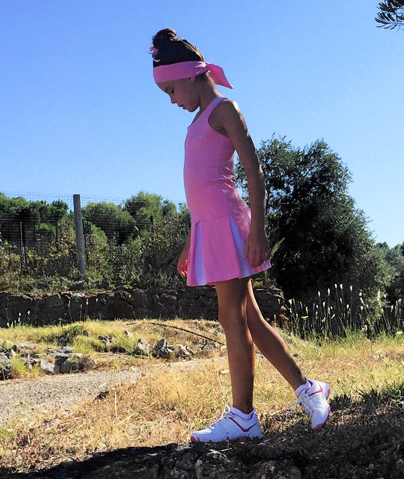 dress girl tennis pink Zoe Alexander uk za Brianna