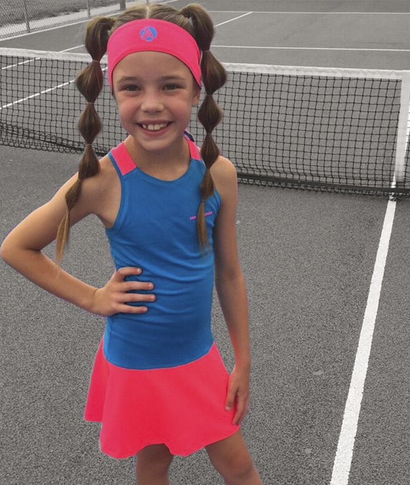girls tennis dresses gigina blue neon Zoe Alexander uk za