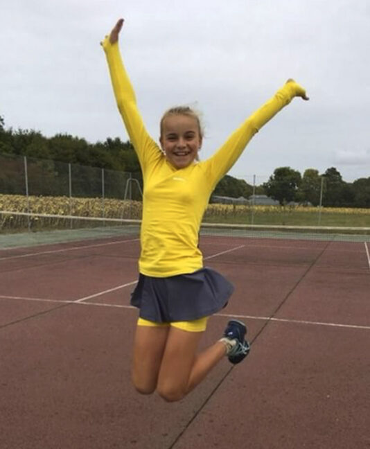 TENNIS TRAINING TOP GIRLS ZOE ALEXANDER UK ZA