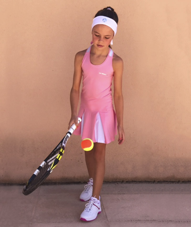 pink tennis dress girls racerback zoe alexander uk