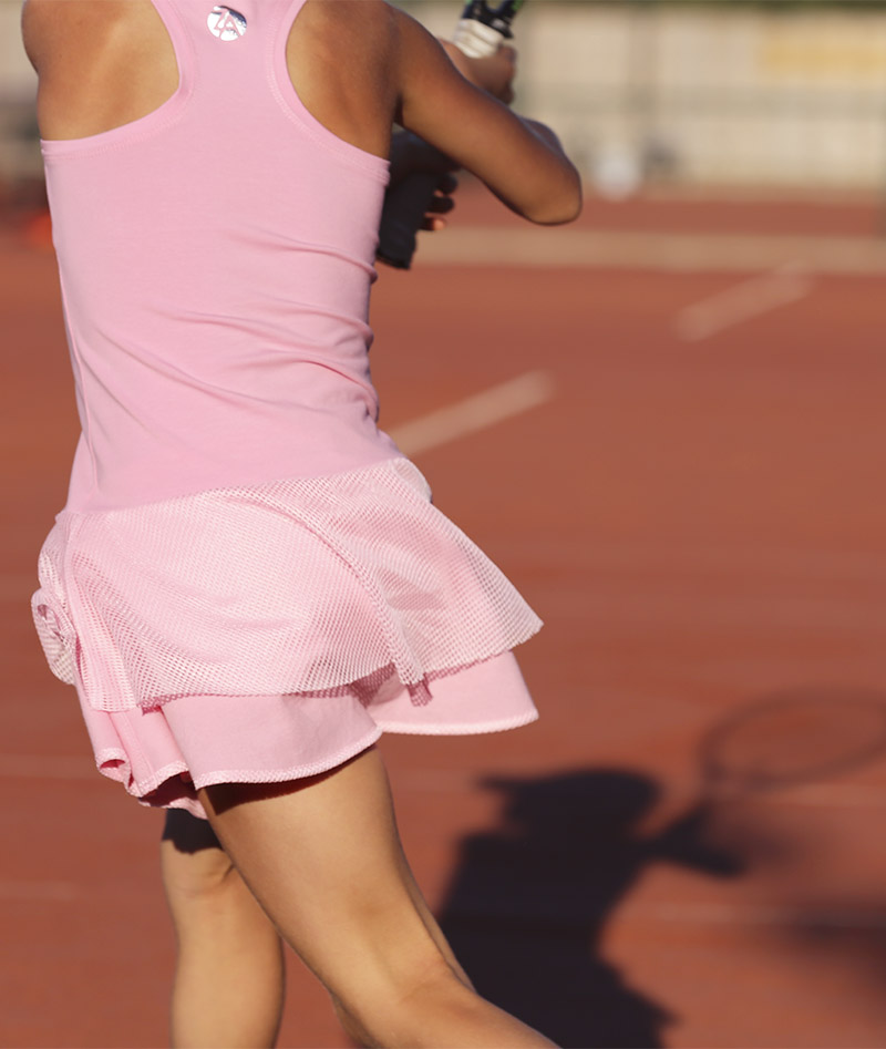 candy pink girls tennis dress zoe alexander