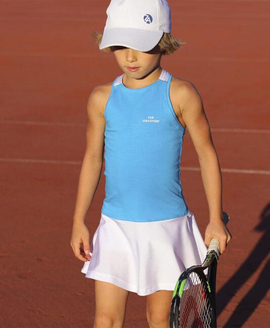 blue white girls tennis dress zoe alexander anett