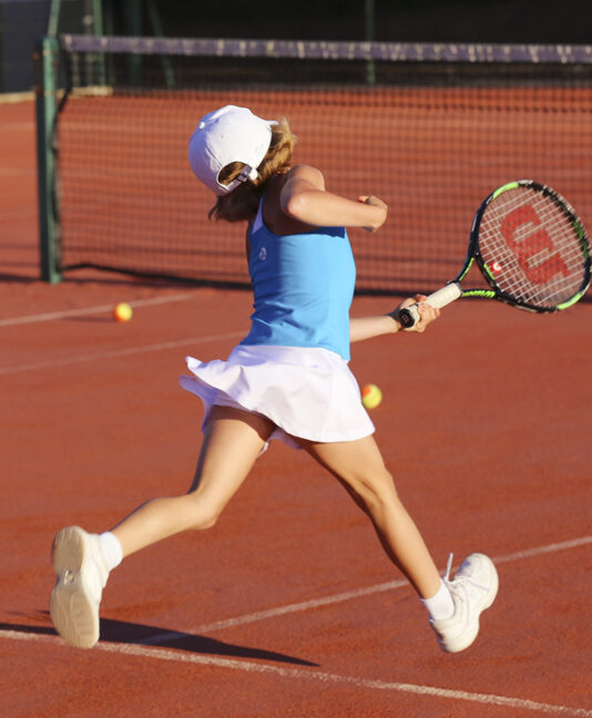 girls racerback tennis dress blue zoe alexander uk