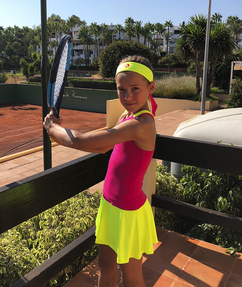 pink racerback girls tennis dress zoe alexander uk