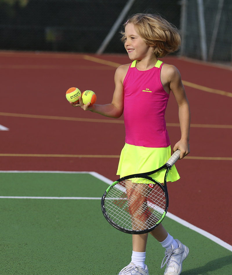 pink yellow tennis dress za zoe alexander uk