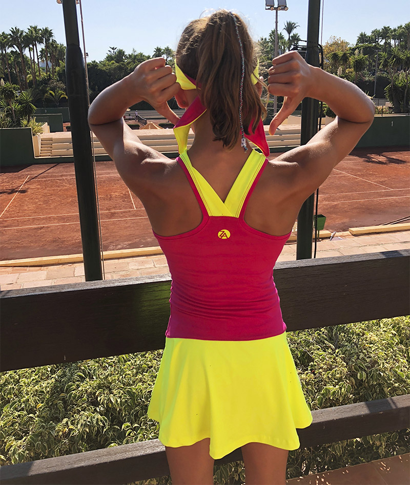 pink yellow racerback tennis dress girls zoe alexander uk
