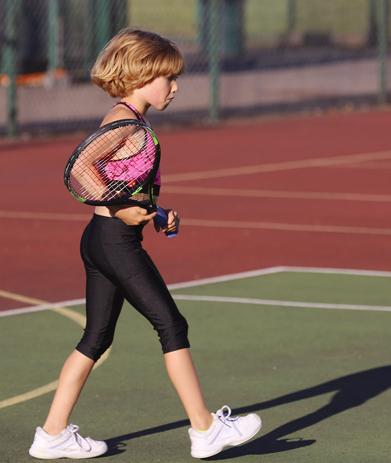 cropped tennis leggings metallic colour zoe alexander uk