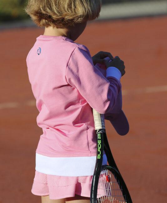 girls tennis clothes sweatshirt tops zoe alexander pink