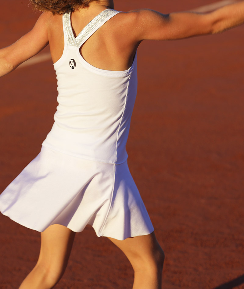white racerback tennis dress girls zoe alexander uk