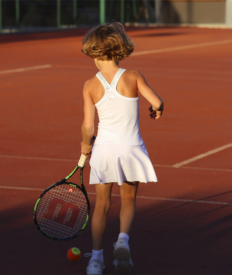 girls white tennis dress angelique zoe alexander