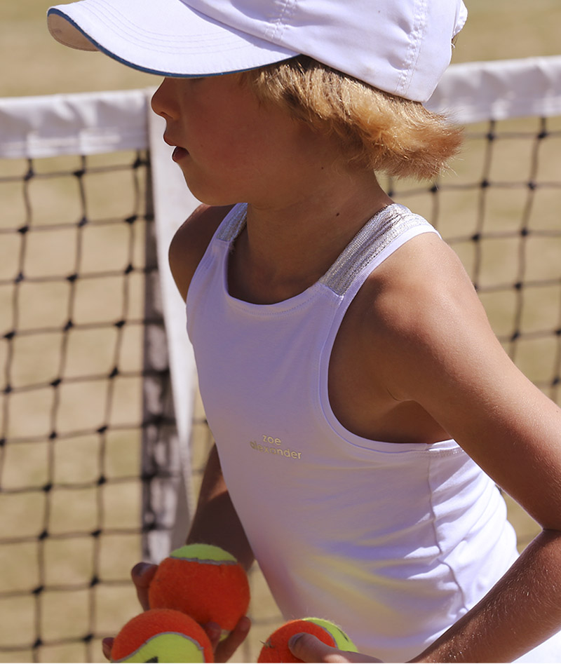white tennis dress angelique zoe alexander uk