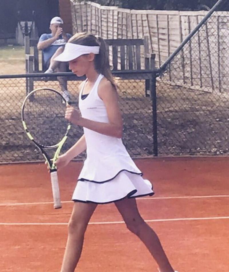WHITE TENNIS GILR DRESS
