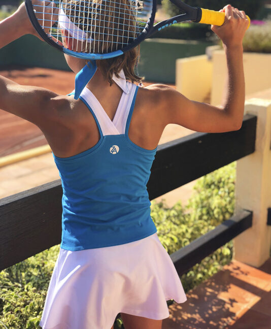 TENNIS GIRL DRESS blue white Jessica Anett Zoe Alexander uk za Spain