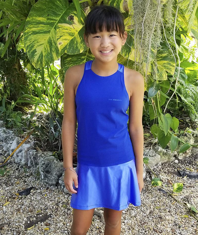TENNIS DRESS FOR GIRLS BLUE VERITY KAI