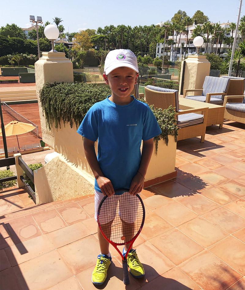 boys tennis outfit shorts top t-shirt Zoe Alexander uk za Spain