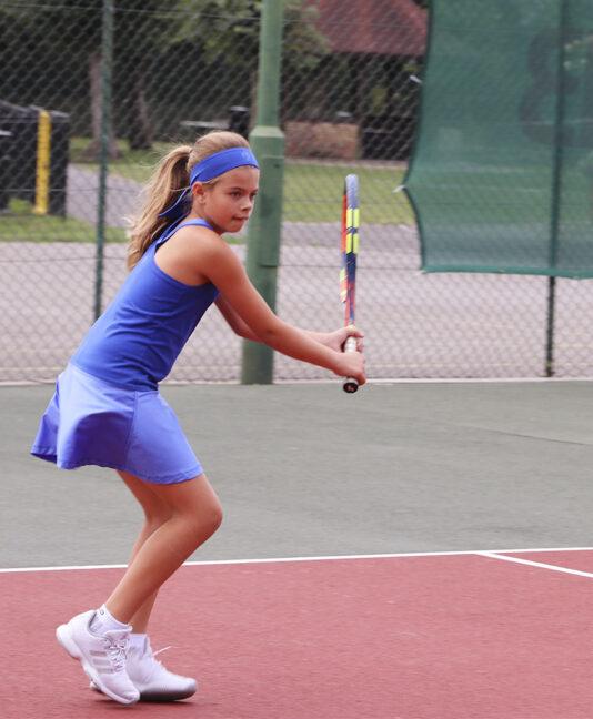 blue racerback girls tennis dress cheryl zoe alexander