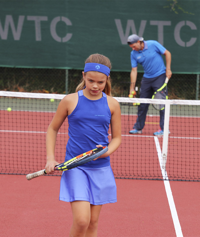 girls tennis dress uk blue zoe alexander