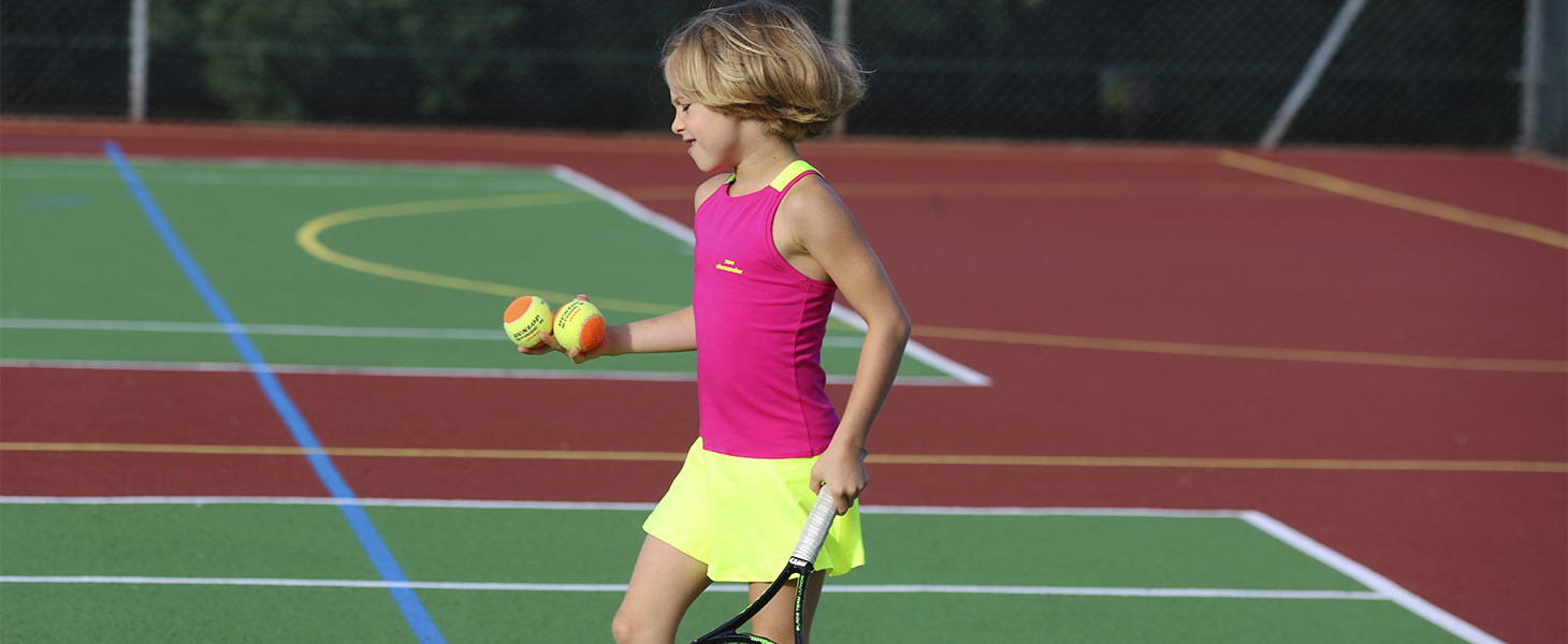 raspberry neon tennis dress racerback tennis dress zoe alexander uk