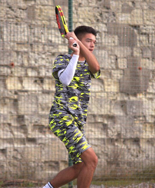 boys tennis shorts neon camo zoe alexander uk