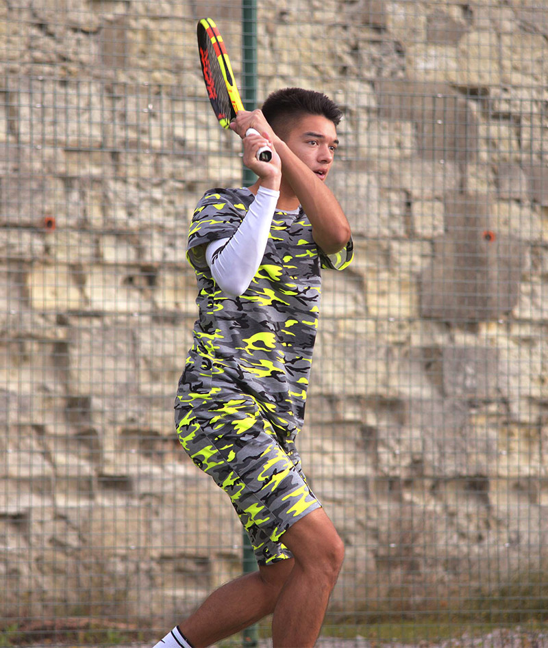 boys tennis shorts neon camo zoe alexander uk
