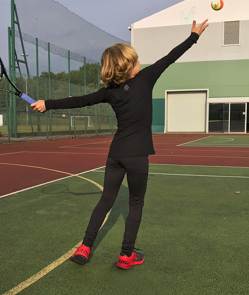 black tennis training leggings zoe alexander