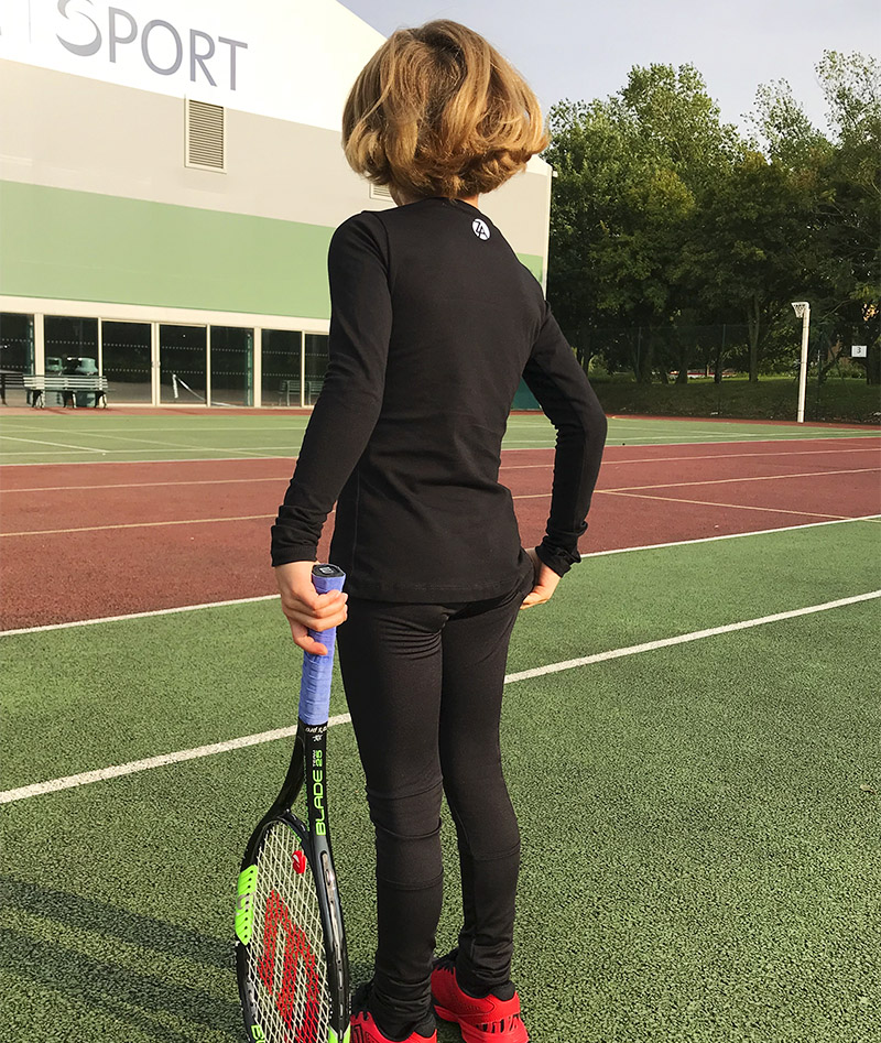 black tennis leggings ball pocket