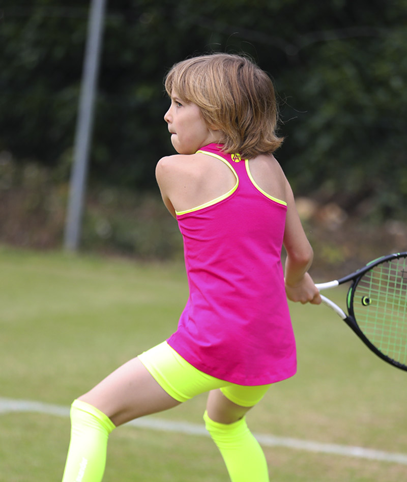 girls tennis tank top vest pink jessica zoe alexander uk