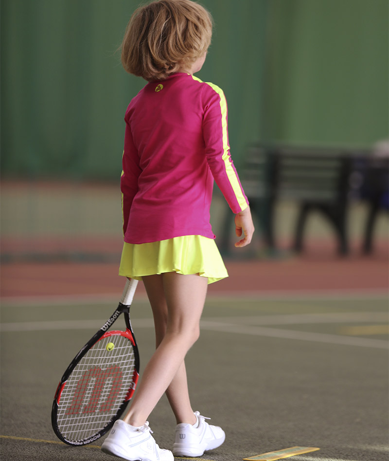 girls tennis tunic long sleeve top zoe alexander uk