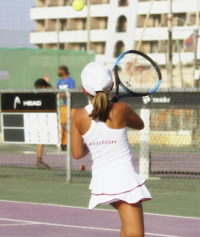 white tennis dress girls Johanna Zoe Alexander uk za Malta