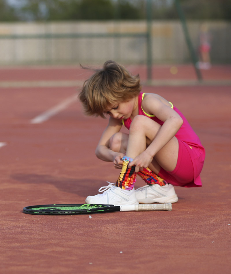 pink tennis shorts cotton by Zoe Alexander