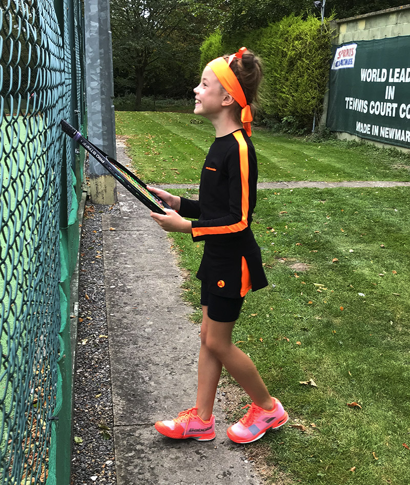girls tennis tops black training neon za Zoe Alexander uk