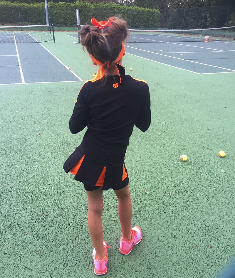 girls tennis top training Zoe Alexander