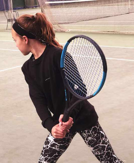 girls tennis long leggings black white print zoe alexander