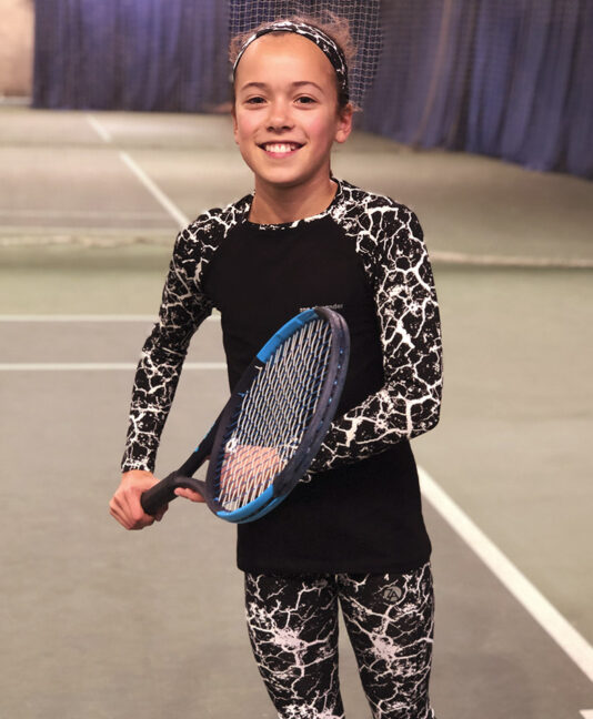 print tennis raglan long sleeve tennis top zoe alexander uk