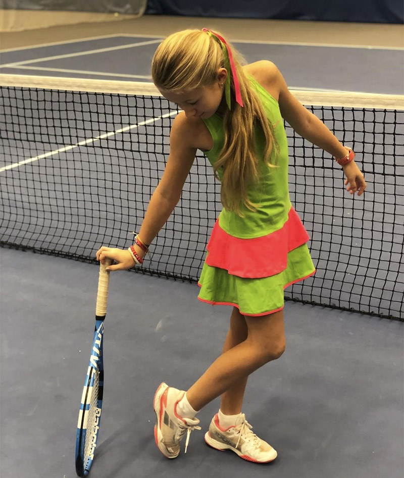 green racerback girls tennis dress kaia zoe alexander