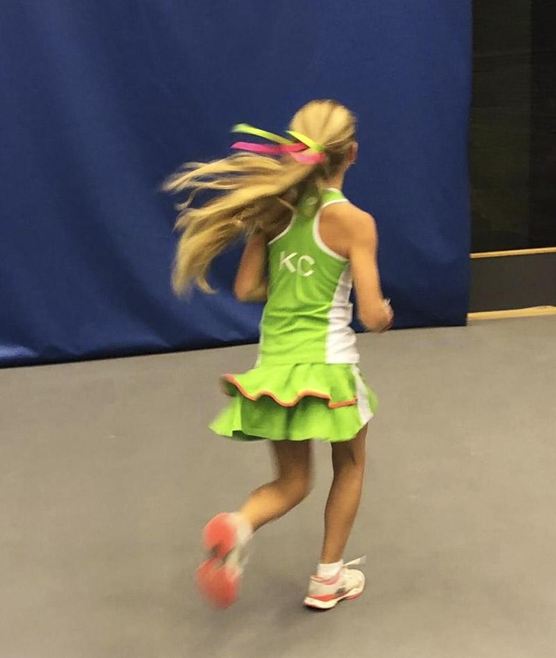 green tennis outfit kaia zoe alexander