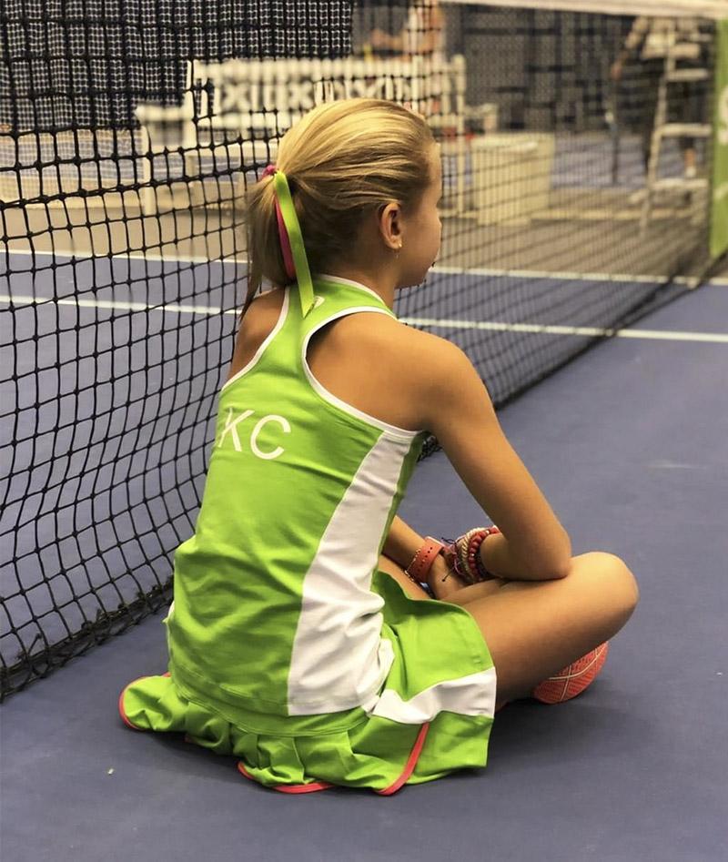 kaia tennis outfit pistachio green zoe alexander uk