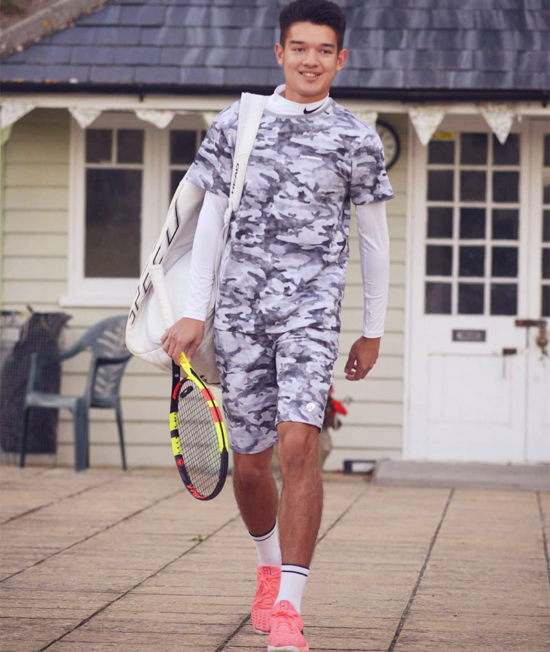 boys winter tennis top zoe alexander grey camo