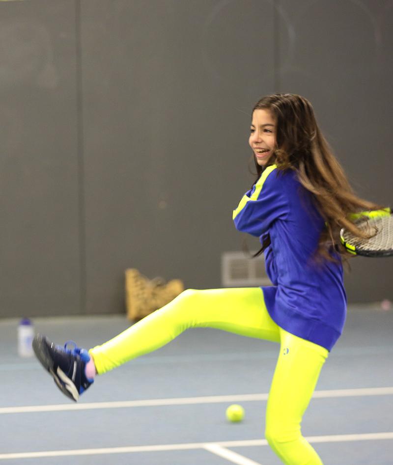 long sleeve training top girls tennis zoe alexander