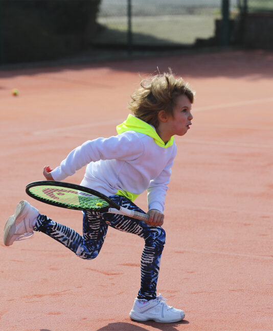girls white tennis hoodie Zoe Alexander kristyna