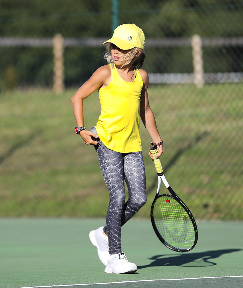CROCODILE Girls Tennis Long Leggings HONEY TOP ZOE ALEXANDER UK ZA 800 A A96I5671