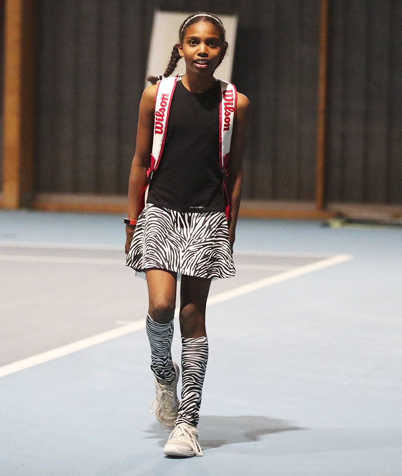 zebra girls tennis dress Zoe Alexander uk